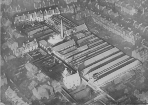 Aerial photograph of Belmont works - Image © Dundee Heritage Trust