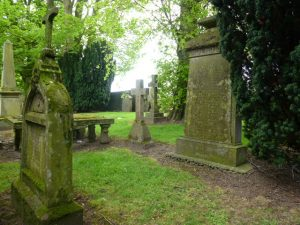 A grouping of Arklay family gravestones - Murroes kirkyard