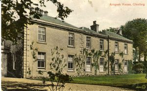Postcard of the mansion house on the estate acquired by John Mitchell shortly before his donation to the Albert Institute.