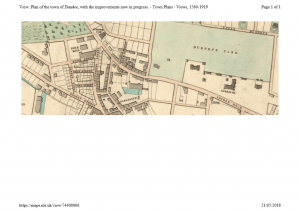 Extract from Edwards plan of Dundee showing the Pole Works and the unmarked Pole Park House to the west of the works.