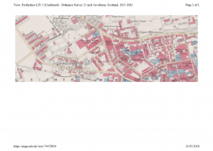 Ordnance Survey plan of the area around the Pole Park Works, 1857.
