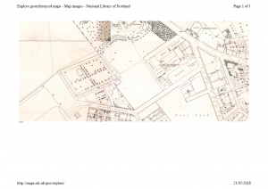 Ordnance Survey plan showing the Pole Park Works.