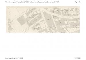 Ordnance Survey plan showing the Pole Park Works.