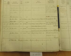 Register of shipping bottom left.