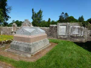 Edward Baxter of Kincaldrum's grave at Inverarity Churchyard.