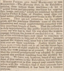 Charles Parker & Sons - Dundee Advertiser, 18 August 1862 - Image©THE BRITISH LIBRARY BOARD. ALL RIGHTS RESERVED