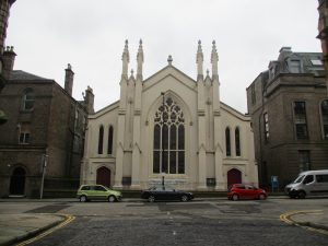 The Ward Chapel Congregational Church, Constitution Road, Dundee where Edward Baxter and his wife were members.