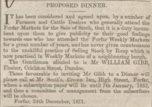 Dundee, Perth and Cupar Advertiser - Friday 26 December, 1851. p1. - Image ©THE BRITISH LIBRARY BOARD. ALL RIGHTS RESERVED