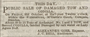 Dundee Courier - Friday 22 October, 1869. p.1. - Image ©THE BRITISH LIBRARY BOARD. ALL RIGHTS RESERVED
