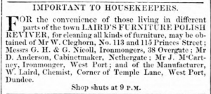 (Northern Warder and General Advertiser for the Counties of Fife, Perth and Forfar - Thursday 19 January 1854, Page 1)