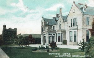 the new Balthayock House, c.1900. Postcard courtesy of Dr D.M. Robertson