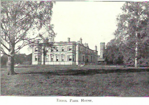 Errol Park House - final home of William Ogilvy Dalgleish