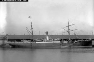 Beryl, one of the Gem Line ships. From Photopolis website courtesy of Leisure & Culture Dundee.