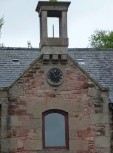 Bell Tower at former school and counting house at Claverhouse