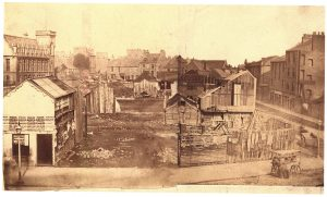 The Meadows, c.1860. The view from Henderson's office and home before the Albert Institute. B19.052. Courtesy Leisure & Culture Dundee.