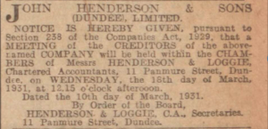 Dundee Courier, 10 March 1931 - Image© THE BRITISH LIBRARY BOARD. ALL RIGHTS RESERVED