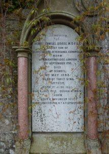 Inscription for Henry Samuel Boase