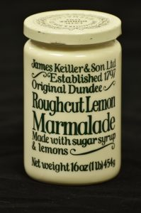 Keiller's Marmalade pot. McManus collection. Courtesy of Leisure & Culture Dundee.