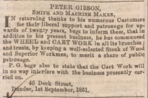 Dundee, Perth & Cupar Advertiser, 19 September 1851 - Image© BRITISH LIBRARY BOARD. ALL RIGHTS RESERVED