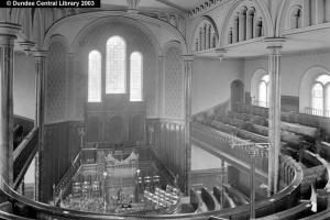 Dudhope Free Church interior. Photopolis wc1807 courtesy of Leisure & Culture Dundee