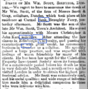 Dundee Advertiser, 31 January 1881.