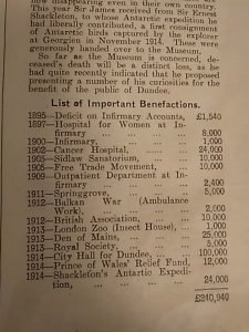 Extract from Dundee Year Book, 1916. Courtesy Leisure & Culture Dundee.