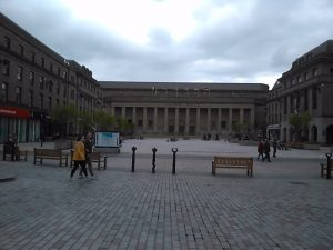 Caird Hall and City Square, 2019.