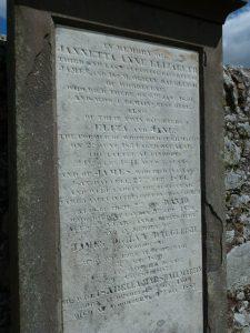 Memorial Stone Inscription. Ceres Kirkyard