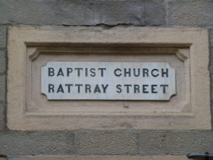 Name Stone on Church Face