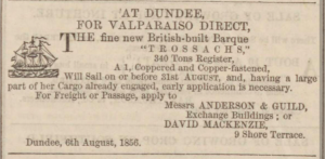 Dundee, Perth & Cupar Advertiser, 8 August 1856 - Image© THE BRITISH LIBRARY BOARD. ALL RIGHTS RESERVED